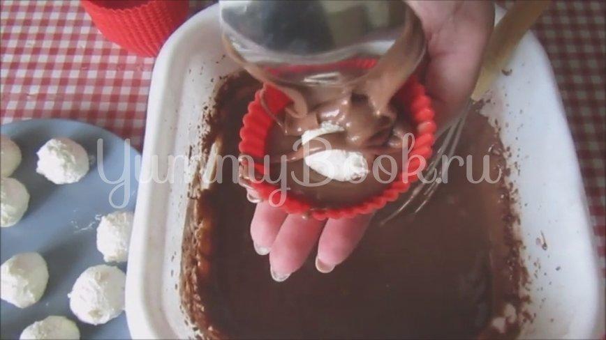 Шоколадные кексы с творогом - шаг 6
