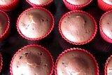 Шоколадные кексы с творогом