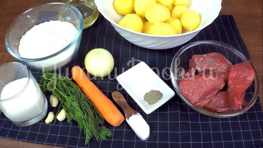 Нудли с говядиной и картошкой - шаг 1