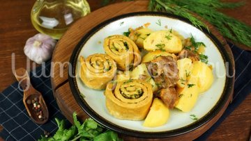Нудли с говядиной и картошкой - шаг 16