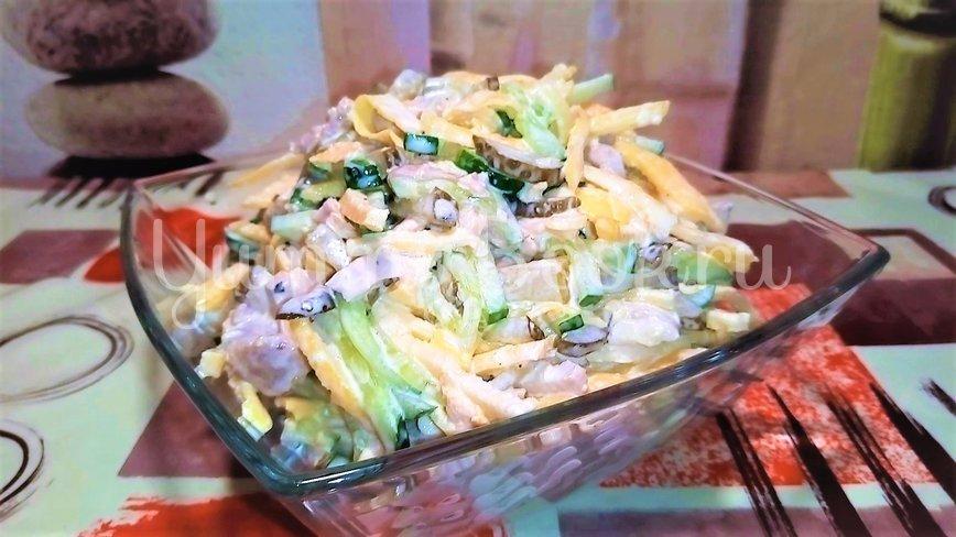 Салат с мясом и яичными блинчиками - шаг 5