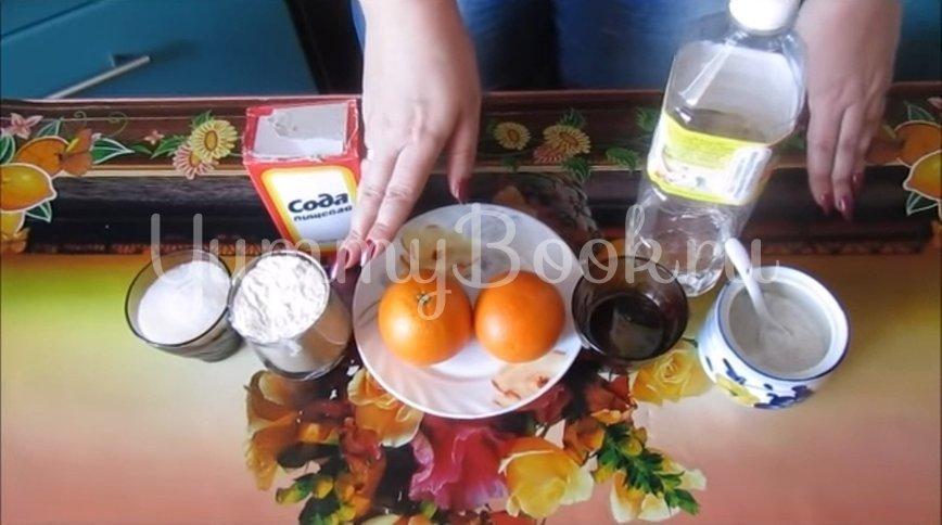 Постные апельсиновые кексы  - шаг 1