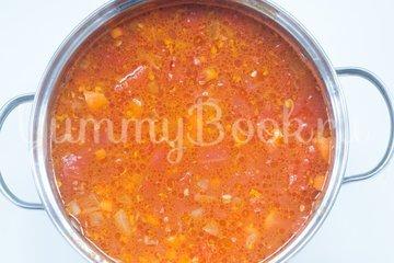 Острый томатный суп с гречневой крупой - шаг 5