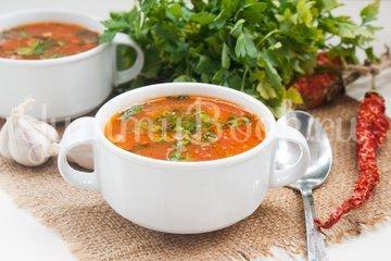 Острый томатный суп с гречневой крупой - шаг 7