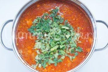 Острый томатный суп с гречневой крупой - шаг 6