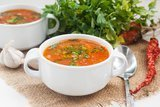 Острый томатный суп с гречневой крупой