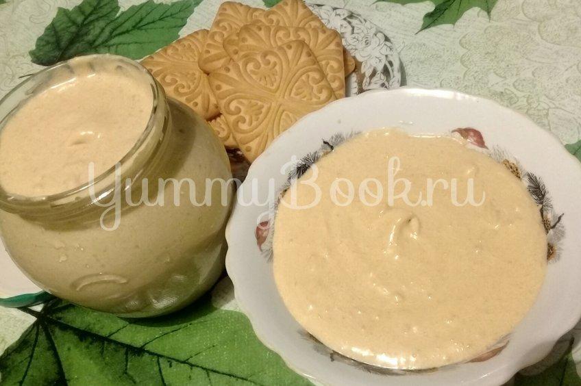 Карамельный заварной крем для торта