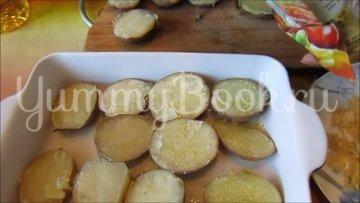 Картошка с грибами и чесноком в духовке (постный рецепт) - шаг 4