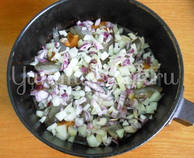 Ёрш тушёный с овощами в маринаде - шаг 7
