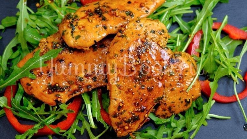 Куриное филе в пергаменте на сковороде - шаг 7
