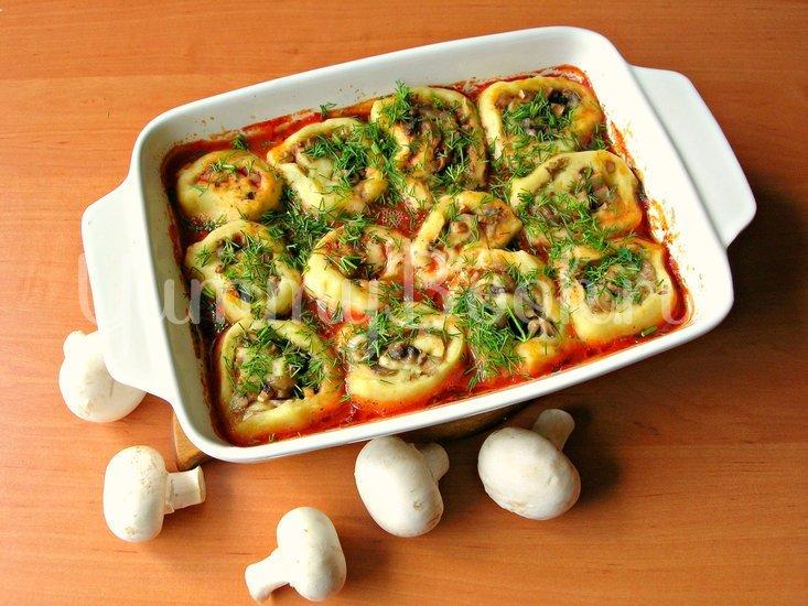 Картофель с грибами  (постное горячее блюдо)  - шаг 9