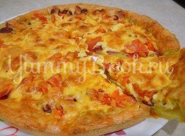 Заливная пицца в духовке - шаг 9
