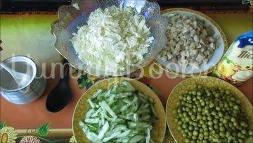 Постный салат с пекинской капустой и грибами - шаг 2
