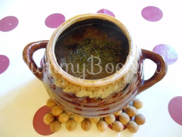 Суп с сушёными грибами и плавленным сырком в духовке - шаг 12