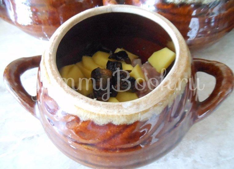 Суп с сушёными грибами и плавленным сырком в духовке - шаг 5