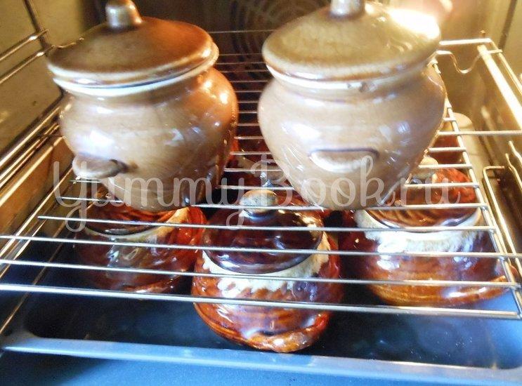 Суп с сушёными грибами и плавленным сырком в духовке - шаг 7
