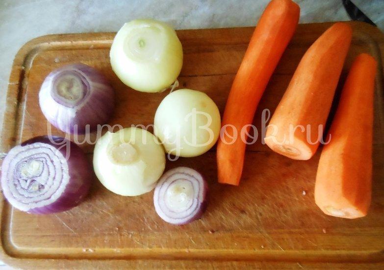 Суп с сушёными грибами и плавленным сырком в духовке - шаг 3