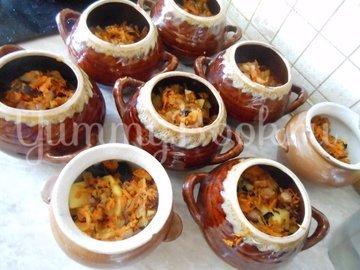 Суп с сушёными грибами и плавленным сырком в духовке - шаг 6