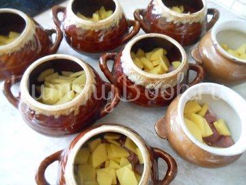 Суп с сушёными грибами и плавленным сырком в духовке - шаг 1