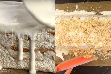 Торт из 3-х ингредиентов без выпечки - шаг 6