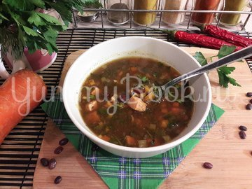 Суп с фасолью и копчёной курицей - шаг 11