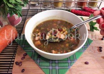 Суп с фасолью и копчёной курицей - шаг 12