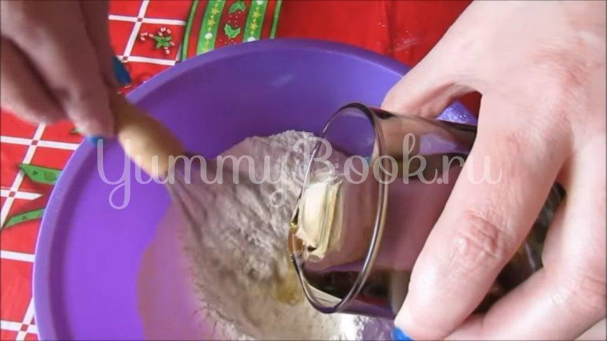 Постный тертый пирог с вишнями  - шаг 3