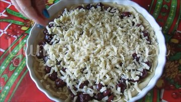 Постный тертый пирог с вишнями  - шаг 6