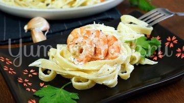 Паста в сливочном соусе с креветками - шаг 7
