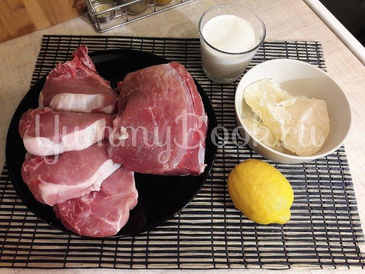 Свинина в сливочно-лимонном соусе - шаг 1