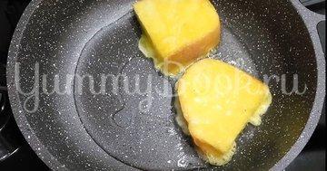 Сладкие гренки из батона с яйцом - шаг 3