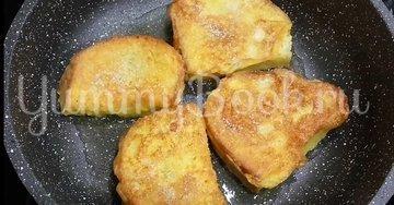 Сладкие гренки из батона с яйцом - шаг 4