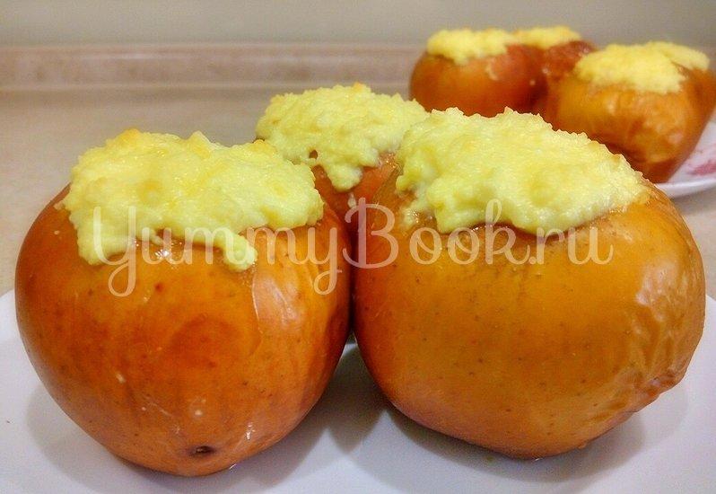 Запеченные яблоки с творогом в духовке - шаг 4