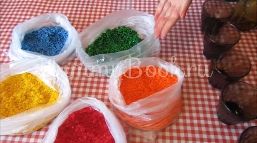 Мраморные яйца-крашенки в рисовой сечке - шаг 6