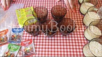 Мраморные яйца-крашенки в рисовой сечке - шаг 3