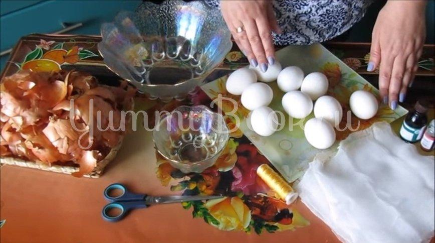 Мраморные и малахитовые яйца к Пасхе - шаг 1