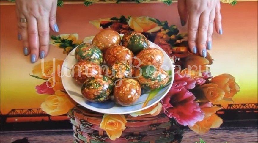 Мраморные и малахитовые яйца к Пасхе - шаг 5