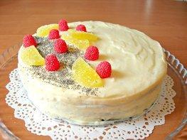 Маковый торт с заварным кремом