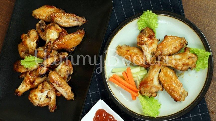 Куриные крылышки в медово- соевом маринаде - шаг 9