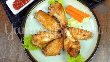 Куриные крылышки в медово- соевом маринаде - шаг 8