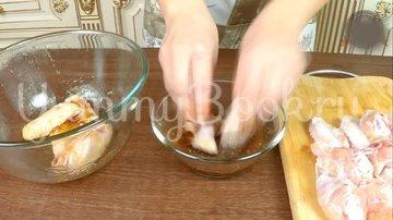 Куриные крылышки в медово- соевом маринаде - шаг 5