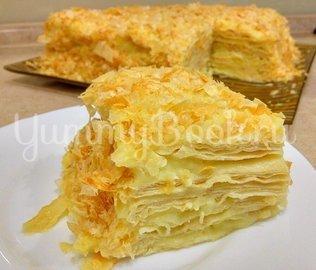 Торт Наполеон из слоеного теста с заварным кремом - шаг 10