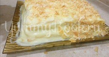 Торт Наполеон из слоеного теста с заварным кремом - шаг 9