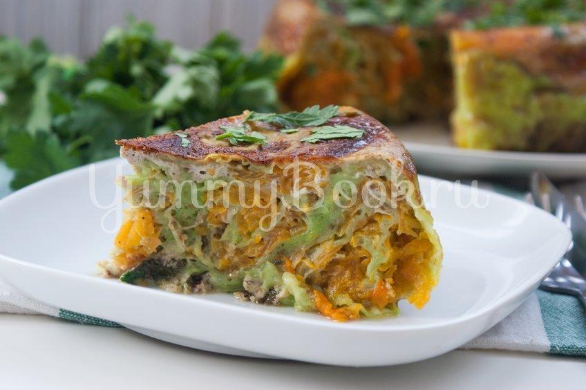 Пирог из лаваша с тыквой в мультиварке