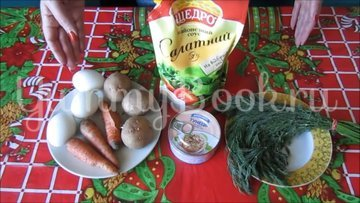 Слоеный салат с консервированным тунцом - шаг 1