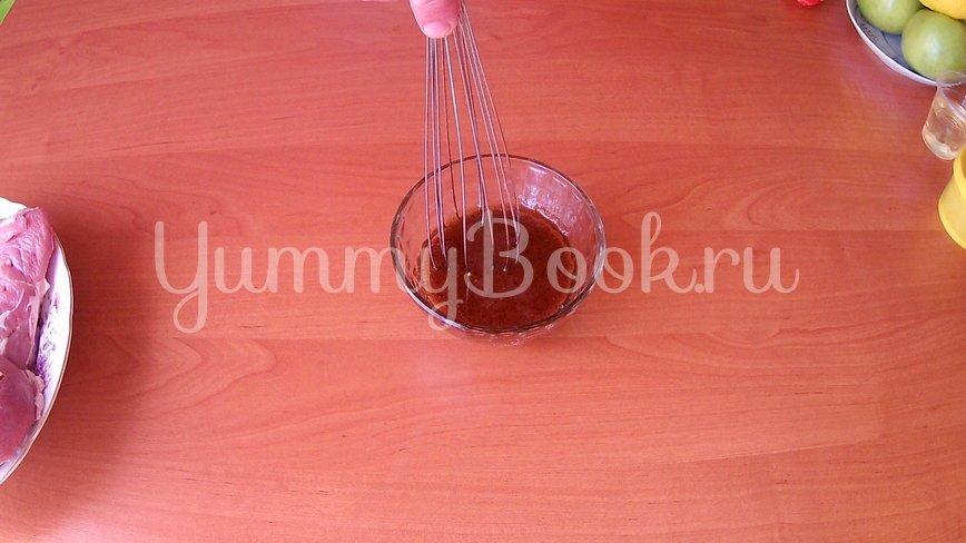 Запеченный стейк индейки с яблочным соусом - шаг 2