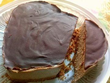 Шоколадный торт со вкусом кофе (без выпечки)