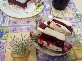 Творожно - вишневый десерт