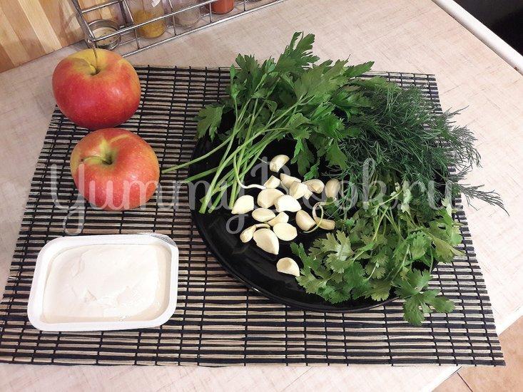 Сливочный чесночно-яблочный соус - шаг 1