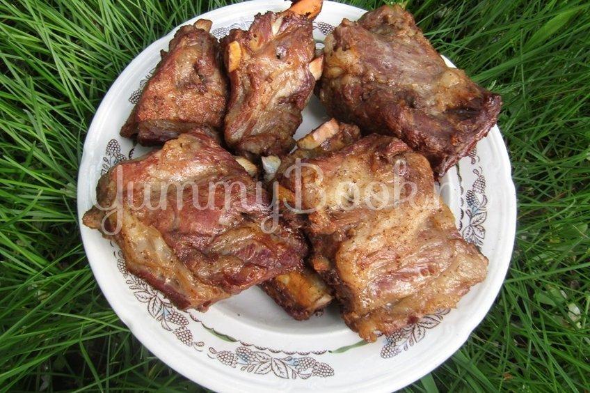 Свиные рёбрышки копчёные на мангале